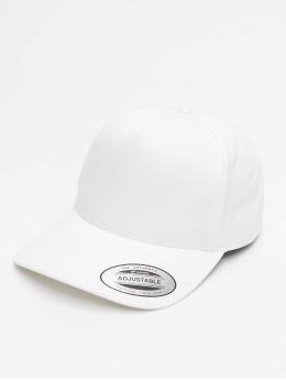 Flexfit Snapback Caps 5-Panel Curved Classic hvid