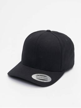 Flexfit Snapback Caps 6-Panel Curved Metal musta