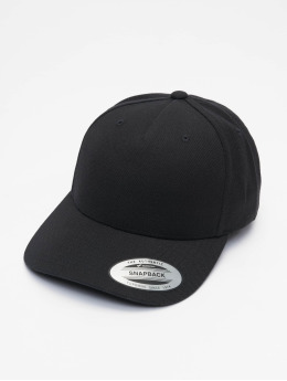 Flexfit Snapback Caps YP Classics 5-Panel Premium Curved Visor sort