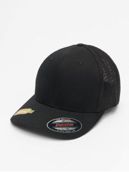 Flexfit Trucker Caps Recycled Mesh  čern