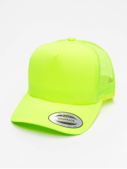 Flexfit Trucker Caps Neon Retro žlutý
