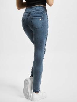 Freddy Skinny Jeans N.O.W. Yoga Skinny Jeans mit umschlagbarem Taillenbund Marmor Optik  blau