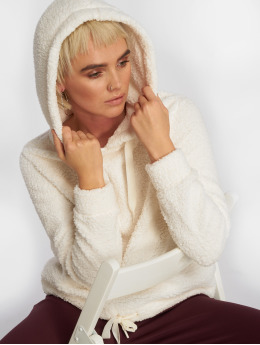 Fresh Made Felpa con cappuccio Fleece bianco