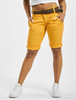 Fresh Made Pantalón cortos Belt Bermuda amarillo