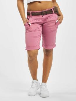 Fresh Made Pantalón cortos Belt Bermuda rosa
