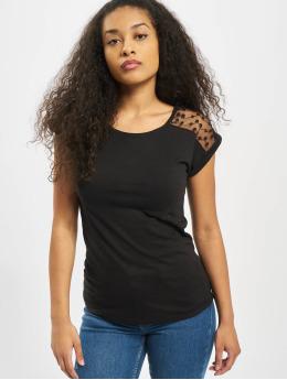 Fresh Made t-shirt Overlapped Sleeves  zwart