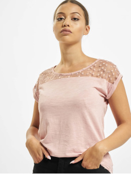 Fresh Made T-shirts Lace  rosa
