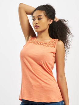 Fresh Made Topper Sleeveless  oransje