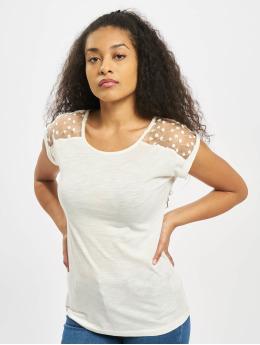 Fresh Made Tričká Overlapped Sleeves biela