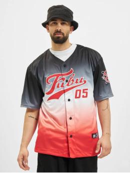 Fubu Рубашка Varsity Baseball Jersey Gradient черный