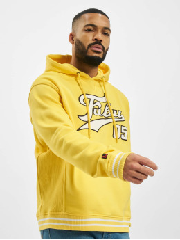 Fubu Felpa con cappuccio Varsity giallo