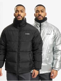 Fubu Puffer Jacket Corporate Reversible Puffer black