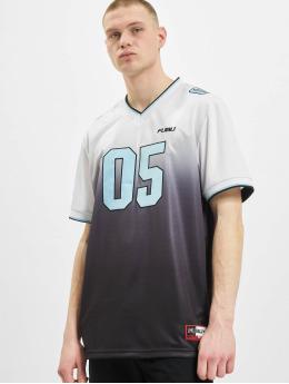 Fubu T-Shirty Corporate Grad. Football Jersey bialy