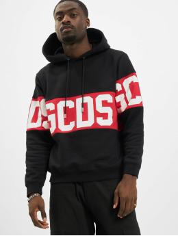 GCDS Hoody Band Logo schwarz