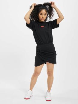 GCDS Kleid WRAPPED MONSTER schwarz