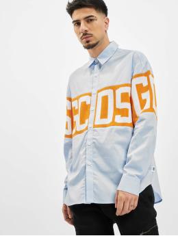 GCDS Koszule Logo  niebieski