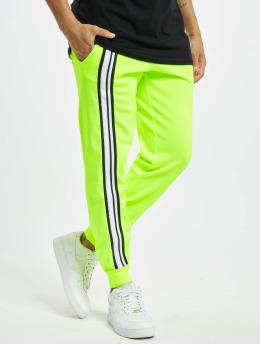 GCDS Spodnie do joggingu Logo Track zólty