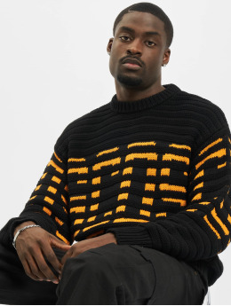 GCDS T-Shirt manches longues Wool Knit noir