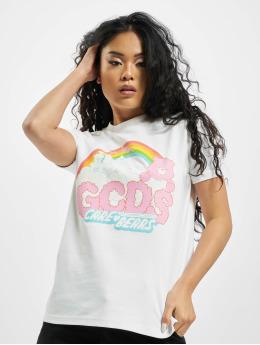 GCDS T-Shirt CLOUDY CARE BEAR weiß