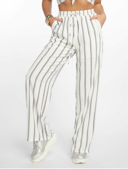 Glamorous Cargo Nohavice Striped  biela