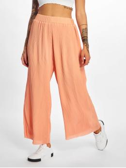 Glamorous Chinot/Kangashousut Plissee oranssi