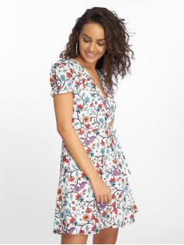 Glamorous jurk Bird Floral wit
