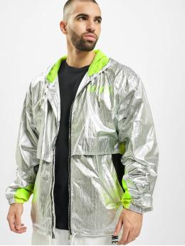 Grimey Wear Демисезонная куртка Planete Noire Silvern серебро