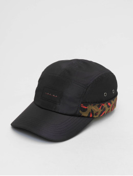 Grimey Wear 5 Panel Caps Midnight Leopard svart