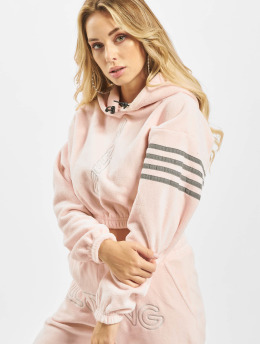 Grimey Wear Felpa con cappuccio Sighting In Vostok Polar Fleece Crop rosa chiaro