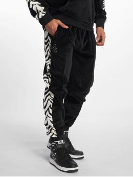 Grimey Wear Jogging kalhoty Natos Y Waor Velour čern