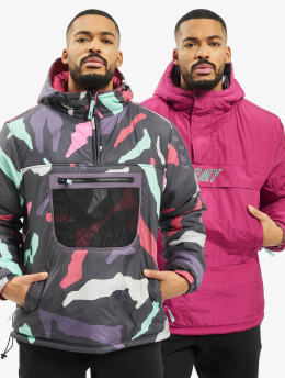 Grimey Wear Manteau hiver Mysterious Vibes Reversible magenta
