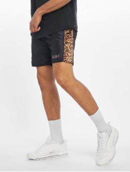 Grimey Wear Pantalón cortos Midnight Chameleon negro