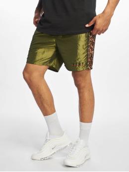 Grimey Wear Pantalón cortos Midnight Chameleon verde