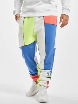 Grimey Wear Pantalone ginnico Planete Noire Overlock  bianco