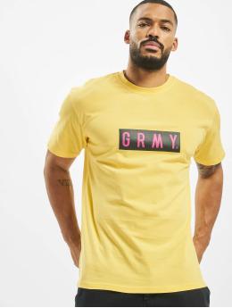 Grimey Wear t-shirt Flying Saucer geel