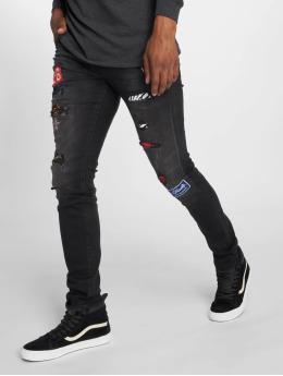 GRJ Denim Jean slim Fashion noir
