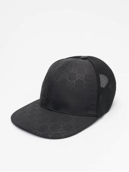 Gucci Trucker Cap Logo schwarz