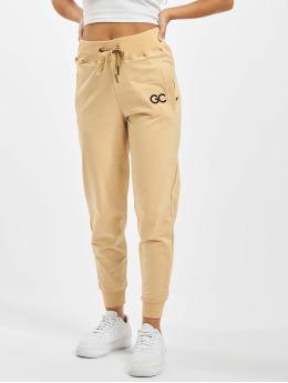 GymCodes Spodnie do joggingu Lady Zip  bezowy