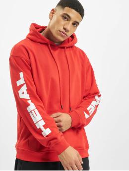 Helal Money Bluzy z kapturem Money First czerwony