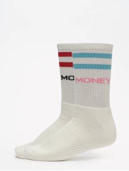 Helal Money Calcetines Strip blanco