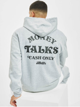 Helal Money Felpa con cappuccio Money Talks grigio