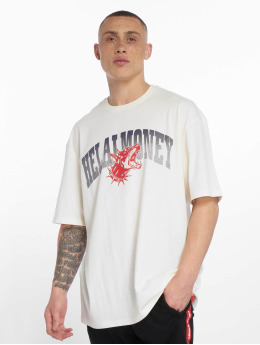 Helal Money T-Shirty Across The Chest bialy