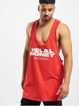 Helal Money Tank Tops Money First červený