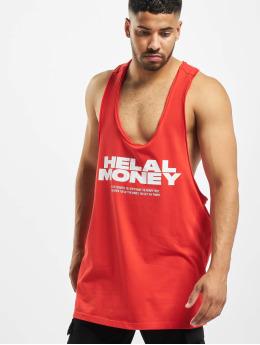 Helal Money Tank Tops Money First czerwony