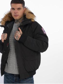 Helvetica Зимняя куртка Anchorage Raccoon Edition черный