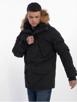 Helvetica Зимняя куртка Expedition Raccoon черный
