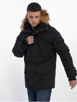 Helvetica Chaqueta de invierno Expedition Raccoon negro