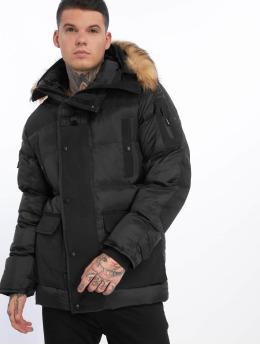 Helvetica | Delta Roccoon Edition noir Homme Manteau hiver