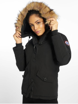 Helvetica Winter Jacket Ontario Raccoon Edition black