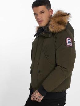 Helvetica Winter Jacket Anchorage Raccoon Edition khaki
